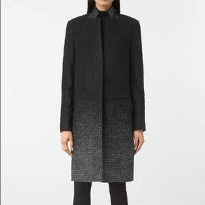 All saints wool knee length coat